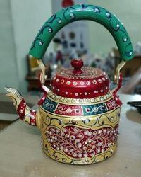 Aliminium Hand Painted Tea Kettle Handicrafts