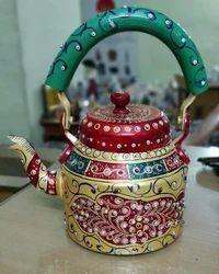 Aliminium Hand Painted Tea Kettle Handicrafts