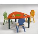 Frp Play School Desk With Chairs