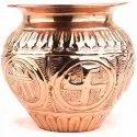 """3.5"""" Puja Copper Lota Kalash Pot For Worship"""