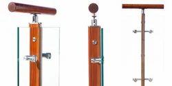 Stainless Steel & Wooden Pillar Baluster