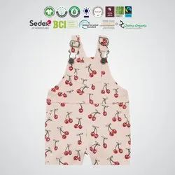 GRS Recycle Cotton Kids Dungarees