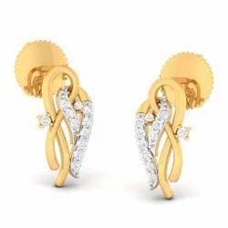 Cool Designed Diamond Gold Earring