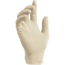 White Disposable Latex Gloves, for Hospitals