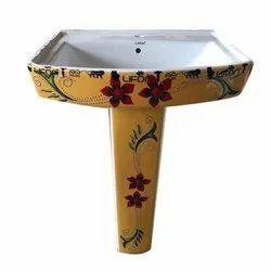 Pedestal Ceramic 118 VT Polo Wash Basin, For Home,Hotel