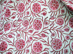 Summer Dress Cotton Fabric In Pink And Red Costume Fabric