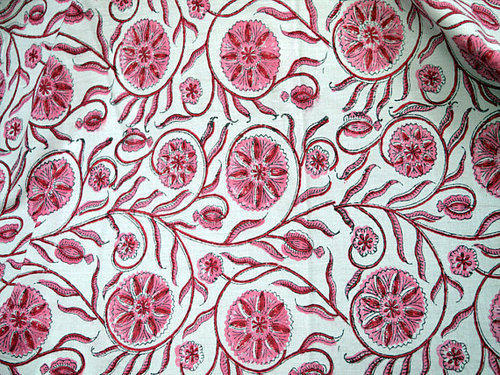 Pink Summer Dress Cotton Fabric In And Red Costume Fabric