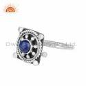 Lapis Lazuli Sterling Silver Designer Vintage Ring