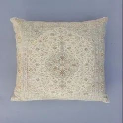 Hand Block Printed Mughal Phulkari Cotton Cushion Cover