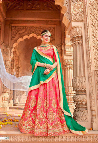 78037502f Georgette Bridal Heavy Lehenga