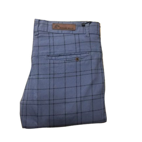 Men' s Cotton Check Slim Fit Trouser