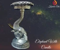 Silver Pelted Candle Stand
