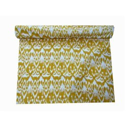 Printed Yellow Queen Bedspread, Size: 90x108 Cm