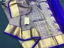 Indian Ethnic Designer Kanchipuram Wedding Silk Saree