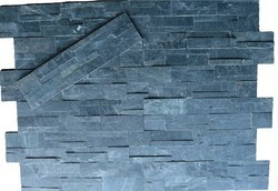 Black slate stone cladding