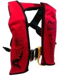 Red Polyester Inflatable Life Jacket