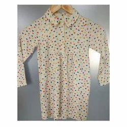 Cotton Regular Wear, Party Wear Kids Collar Shirt