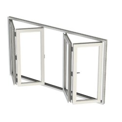 White UPVC Bi Fold Door, For Home