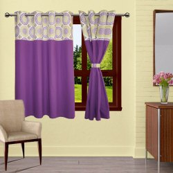 Printed Lushomes Bloombery cotton Window Curtain