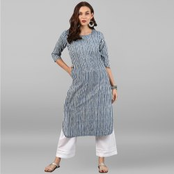 Ladies Cotton Kurta With Pant