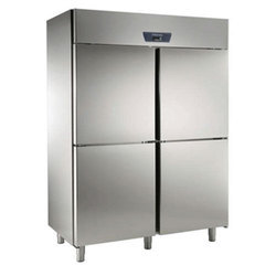 3 Star Stainless Steel Vertical Four Door Refrigerator, For Commercial, 100 L