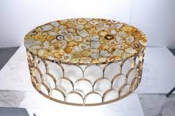Natural Yellow Agate Table