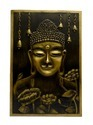 Mural Wall Painting -Metallic Buddha