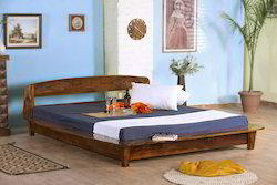 Kings Crafts Wall Nut Kings Platform Bed for Bedroom, Size: 215x224x67 cm
