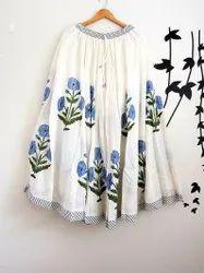 Block Printed Women Skirt