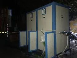 02 Seater Portable Toilet With Open Urinal