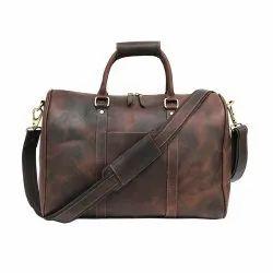 Duffle Bag Brown Leather Travel Gym Bag