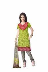 Mahendi , Red And Grey Color Fancy Design Gaji Silk Bandhani Suit