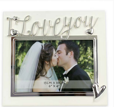 I Love You Photo Frame Silver And White Picture Frame Photo Frame