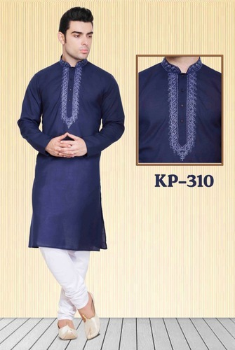 01ef8838bb1 Cotton Embroidered Kurta For Men