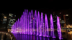 Violet Aluminium Musical Laser Water Fountain, For Parks & Hotels