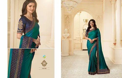 eedfd3317ff075 Silk Dark Green Sparkle Casual Saree, Rs 1680 /unit, Shree Exports ...