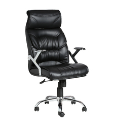 Doblepiel Executive Hb Black Chair
