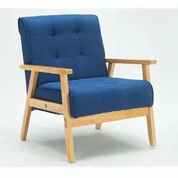 Polished Wooden Sofa Chair