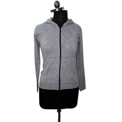 Ladies Plain Zipper Sweatshirts