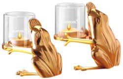 Borosil Froggy Tea Light Set, 2 Pieces