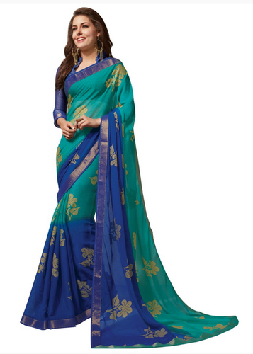 6064f89d95 Kuberan Green Synthetic Designer Saree, Drape Saree - Kuberan Silks ...