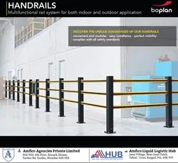 Bar Yellow Impact Resistant Factory Hand Rail