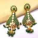 Maitri Brass Meenakari Kundan Earrings