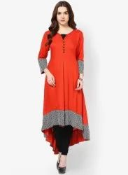 Ladies Ethnic Red Kurti