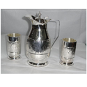 Silver Jug And Glass Set