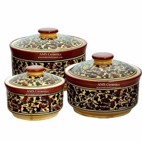 Ams S Ceramic Mughal Serving Bowl Set Rs 900 Set Ams Ceramics
