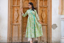 Multi Color Printed Anarkali Suit