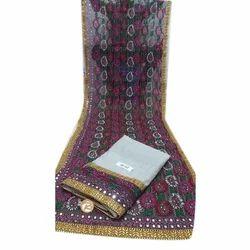 Ladies Cotton and Silk Handicraft Suit