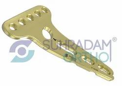 2.4/2.7mm LCP T Buttress Distal Radius Volar Locking Plate 5 Hole Head