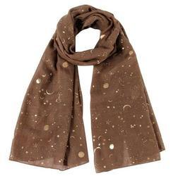 Scarf Gold Foil - Brown